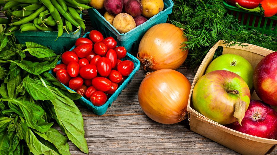 Specialty crops sit on table