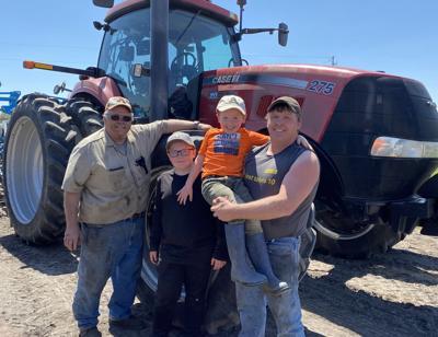 Three generations of the men at Brandt Farms.