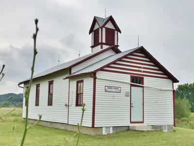 Striped Schoolhouse
