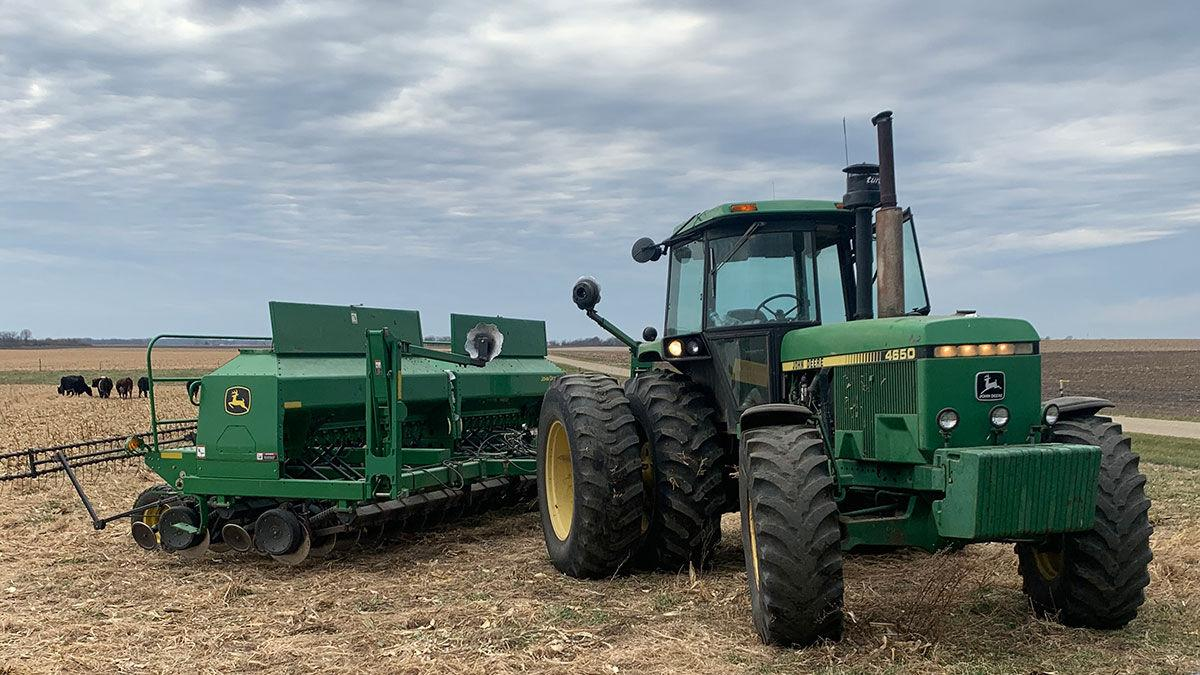 Ross Albert, a McLean County farmer, was planting soybeans on Nov. 20