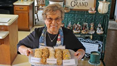 Cheryl Durdan with cookies