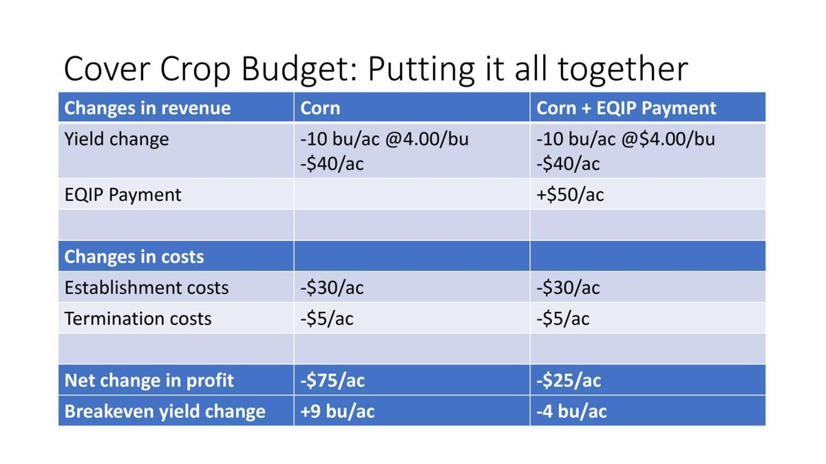 Cover Crop Budget