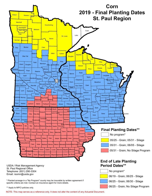 Corn Final Planting Dates