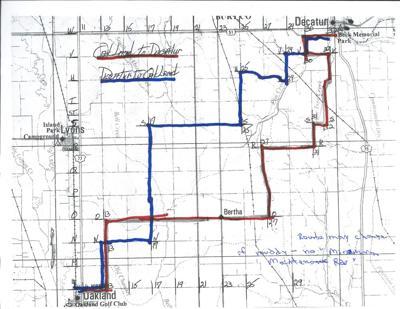 August 4, 2019 Lesser Nebraska Tractor Ride Map