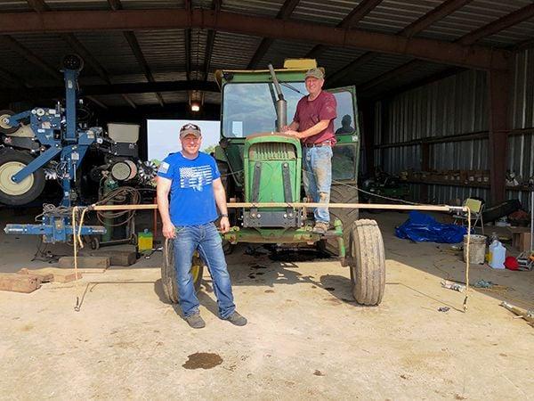 Loroff family tractor Garrett & Phillip