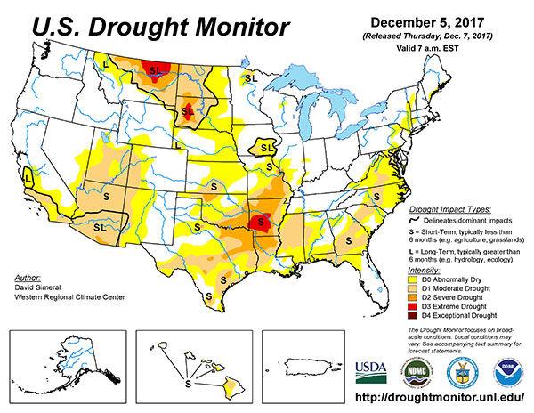 US Drought Monitor Map Crop Agupdatecom - Us crop map