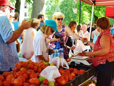 Consumers at Dane County Farmers' Market