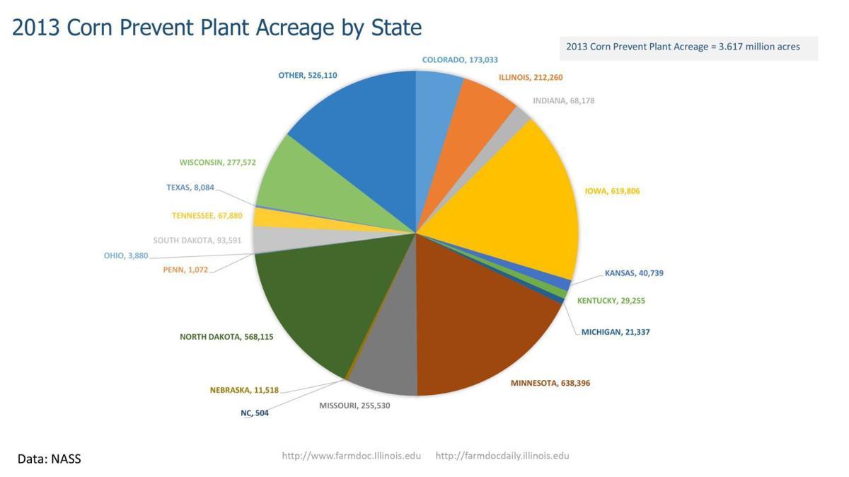 2019 Corn Prevent Acreage by State