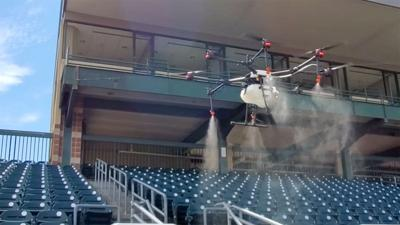 Rantizo is using their drones to test out sanitizing stadiums