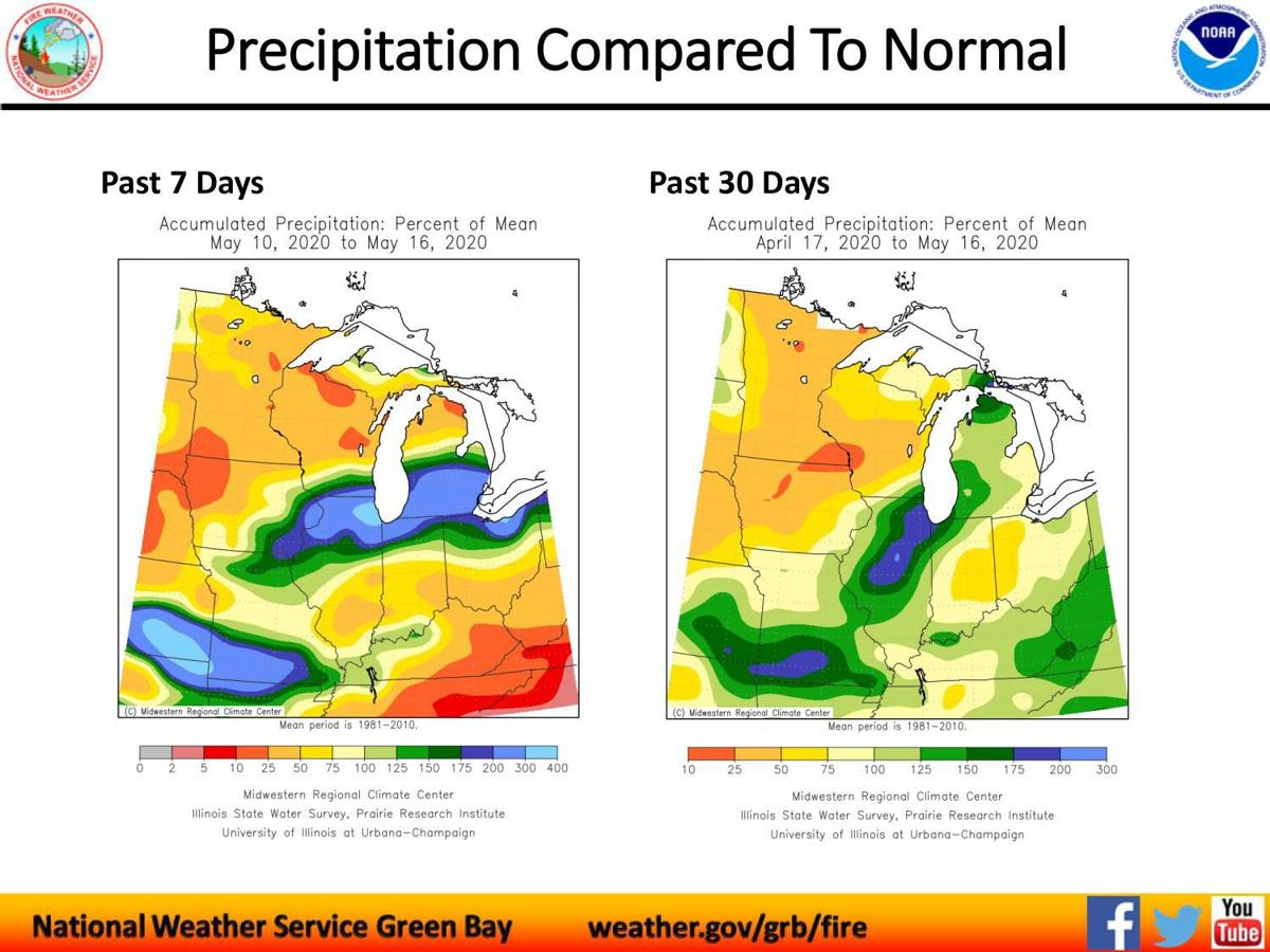 Precipitation Compared to Normal