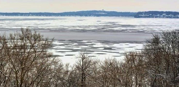 Partially frozen Lake Mendota