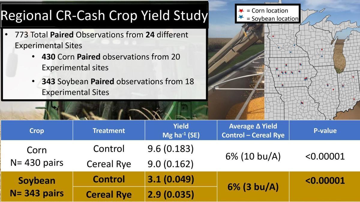Regional Cereal Rye-Cash Crop Yield Study