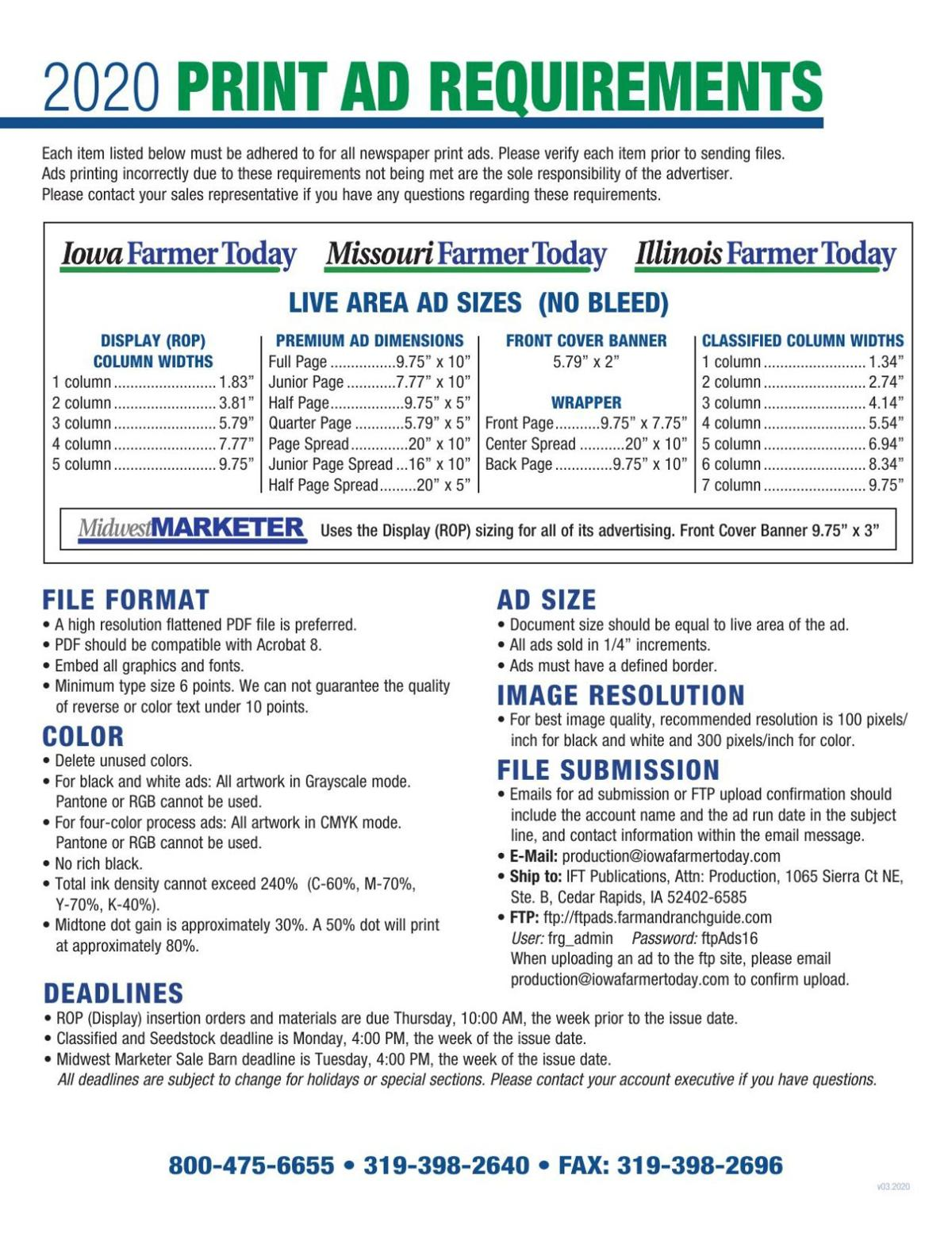 Print Ad Requirements