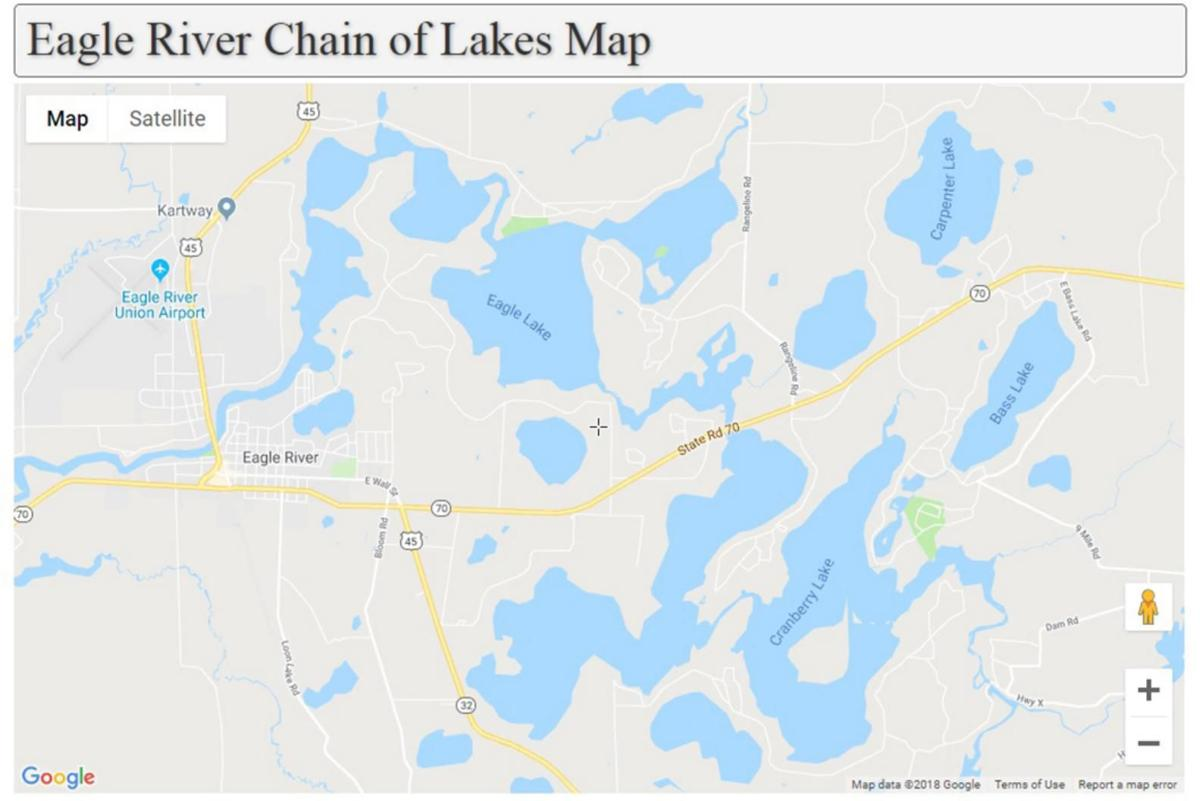 chain of lakes map Eagle River Chain Of Lakes Map Agupdate Com chain of lakes map
