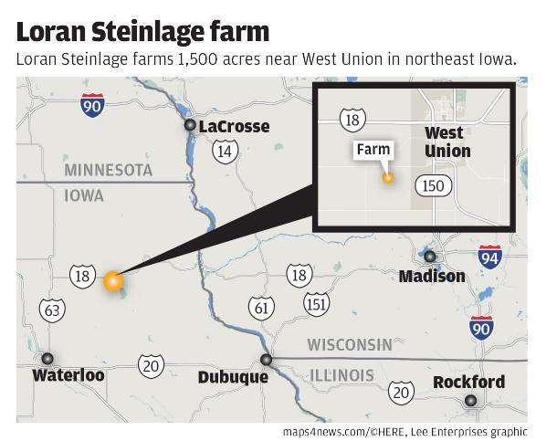 Loran Steinlage map