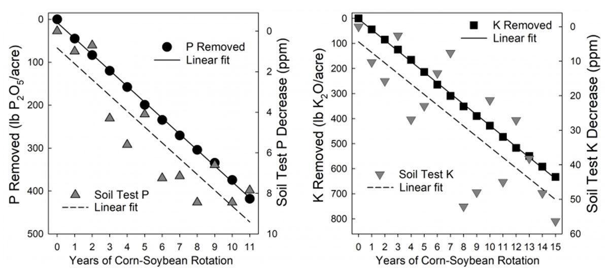 Relationship between cumulative P and K graph