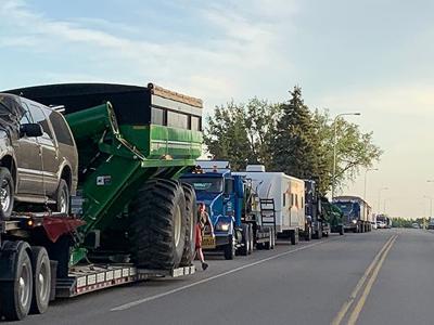 After long drive Hoffman Harvesting crew prepares to start season