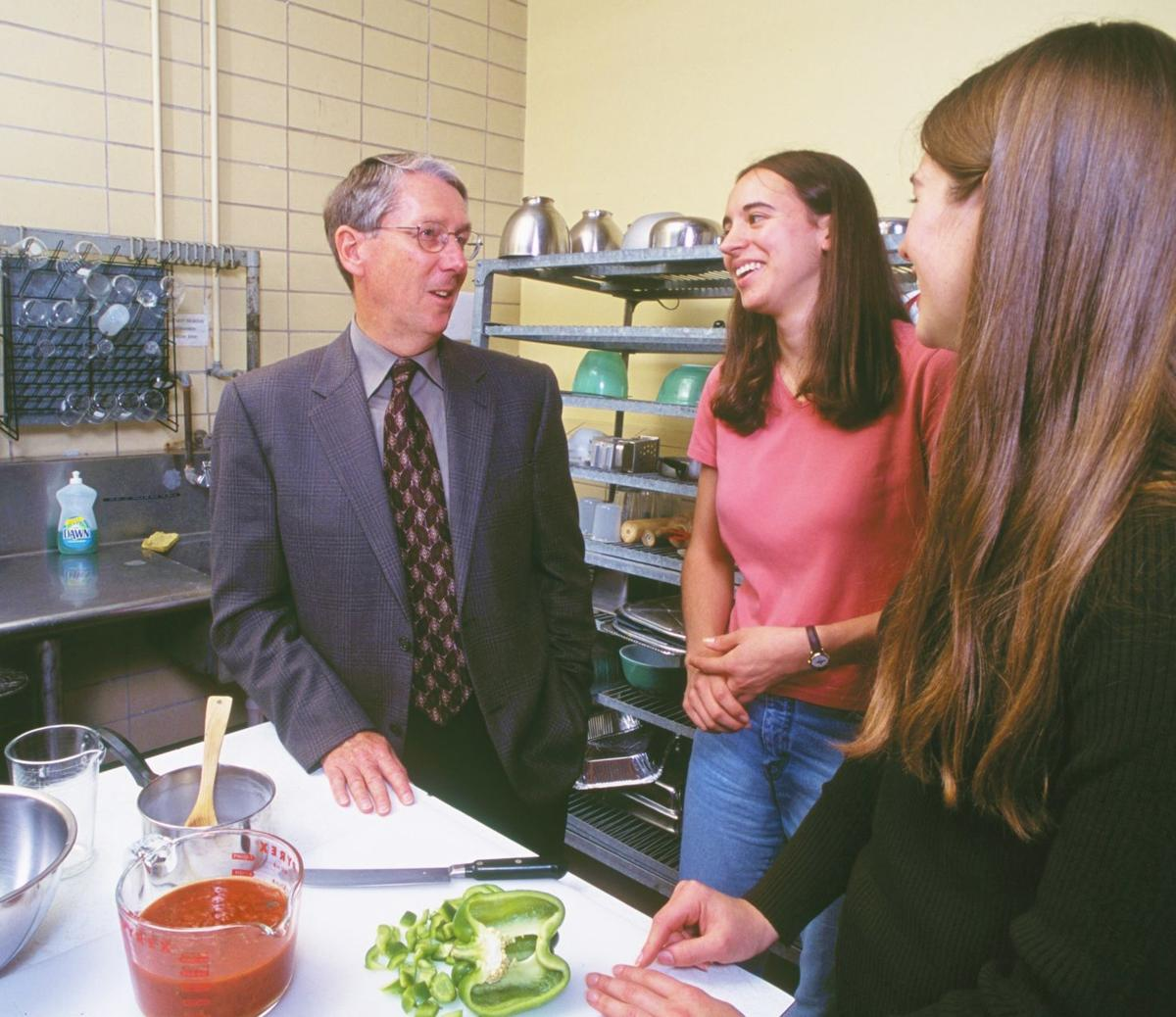 Abe Aberle with food science students
