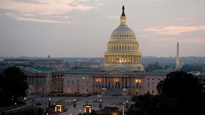 US Capital at dusk