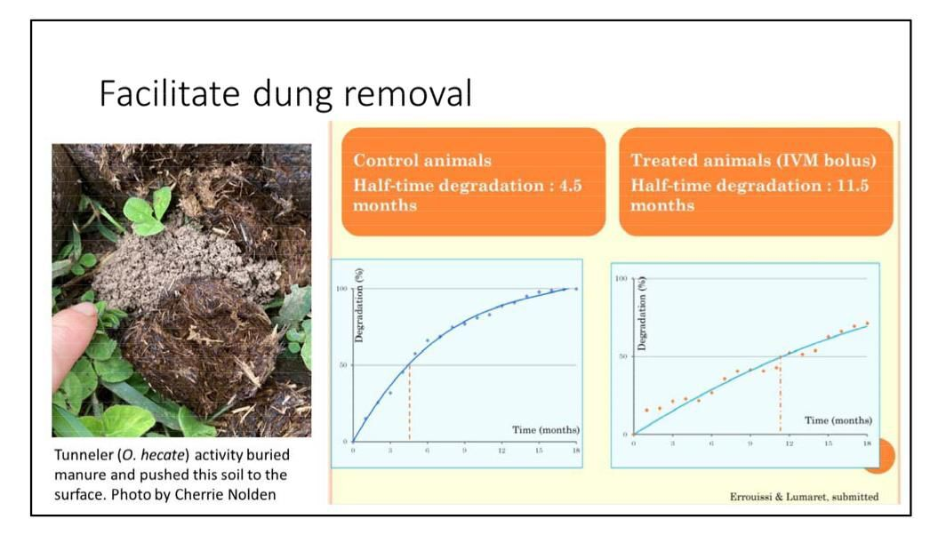 Facilitate dung removal