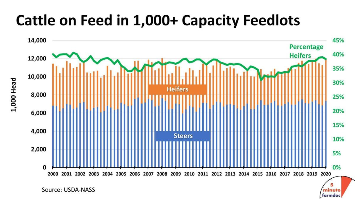 Cattle on Feed in 1,000-plus-capacity Feedlots 2