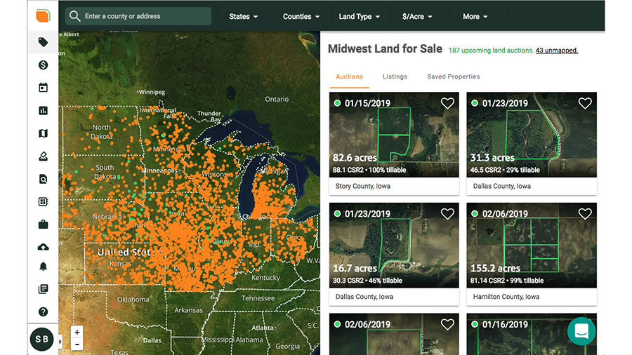 FarmlandFinder website