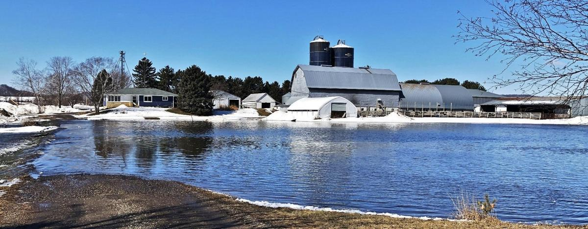 Late March flooding affected some Wisconsin farmers.