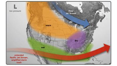 El Niño winter jet stream