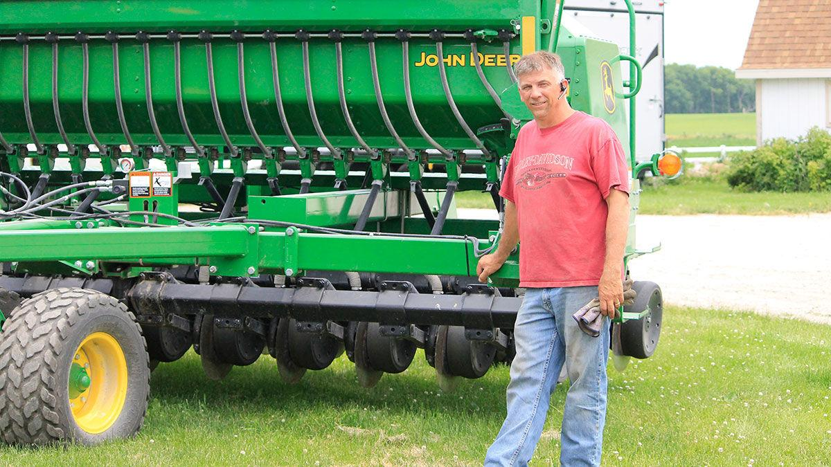 Lance Lillibridge gets ready to plant cover crops