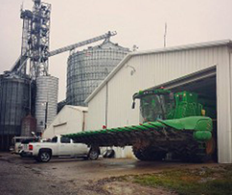 Farm machinery, buildings
