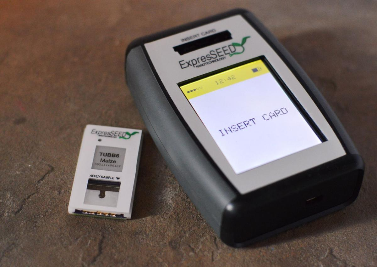 ExpresSeed device with DNA-testing card
