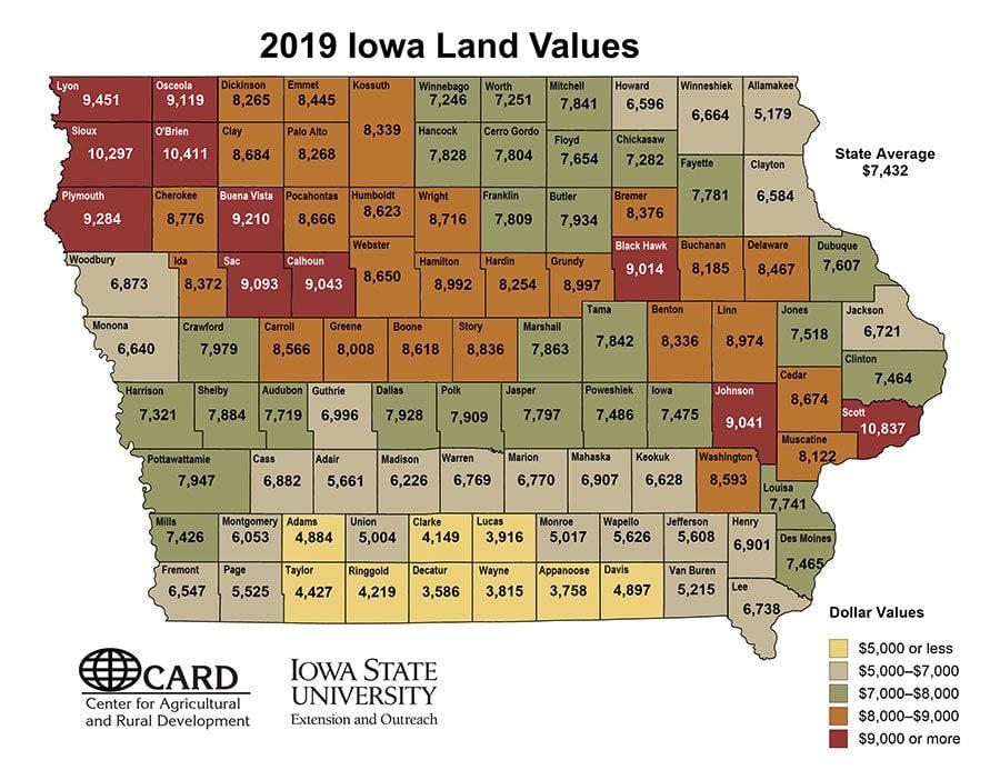 IA Land Value 2019 Prices