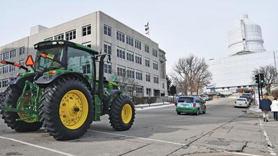 Gov. Mike Parson drove a tractor