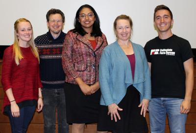 Panelists and Collegiate Farm Bureau members at Food Evolution movie showing