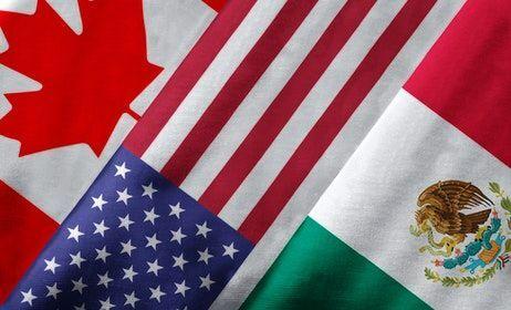 Canada, U.S., Mexico flags