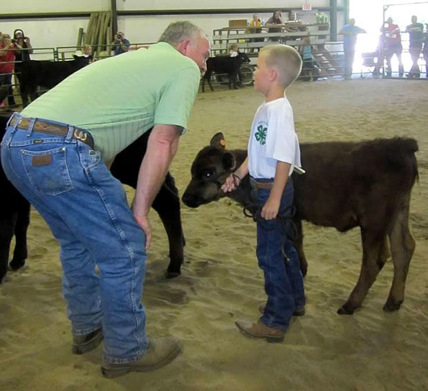 Martey Stewart with grandson
