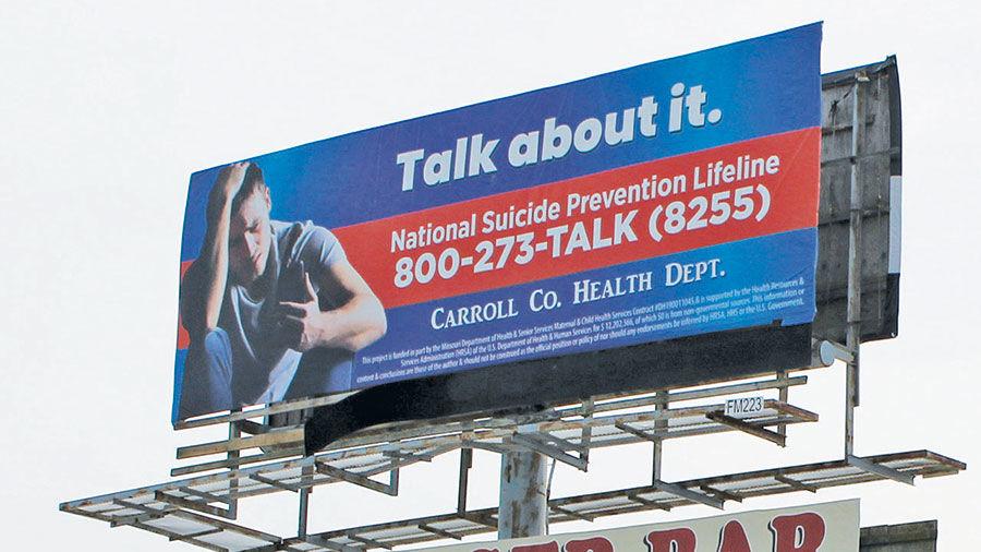 Suicide hotline billboard