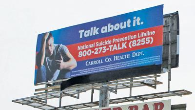 Suicide hotline billboard