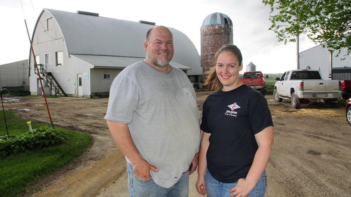 Tim Huhe and his daughter Jennifer