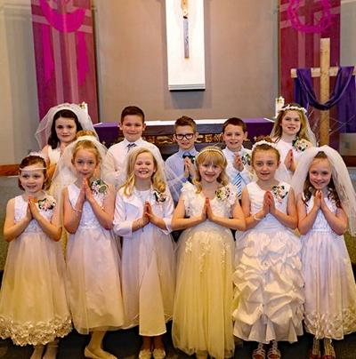 First Communion at St. Patrick's