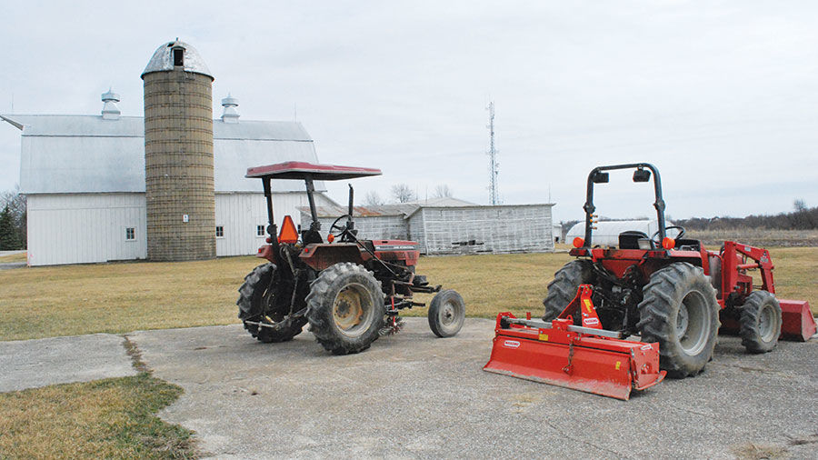 Tractors with ROPS