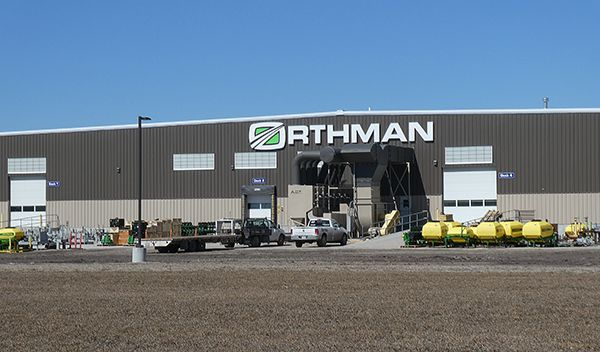 business of agriculture Orthman Frontier plant