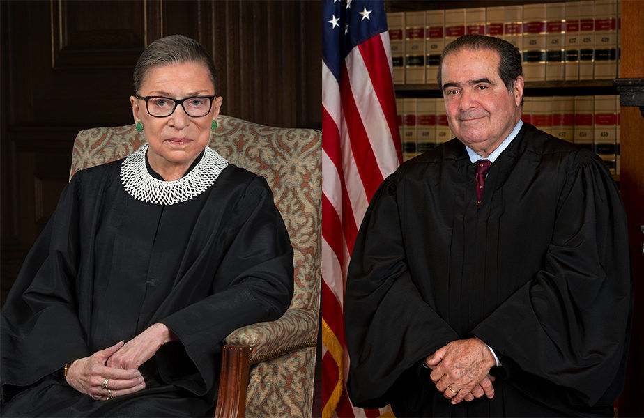 Justice Ruth Bader Ginsburg's attitude of loving forbearance is seen in her famous friendship with Justice Antonin Scalia