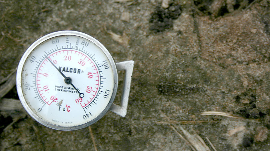 Ground temps below 50 degrees