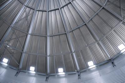 Grain bin interior