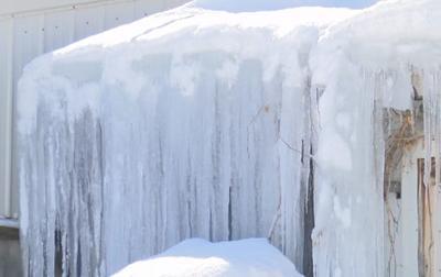 Ice on farm building (copy)