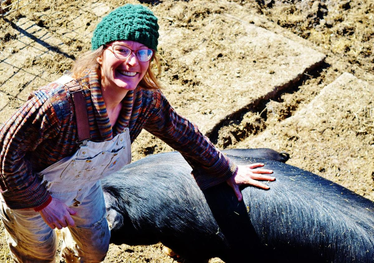 April Prusia with pig