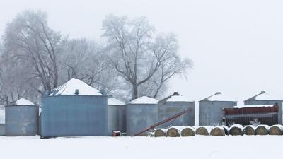 Winter grain bins