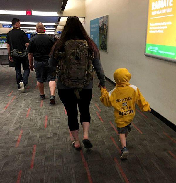 Nebraska Purple Heart Honor Flight child airport May 24 2019