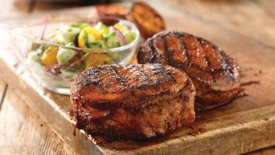 Chops with Salad